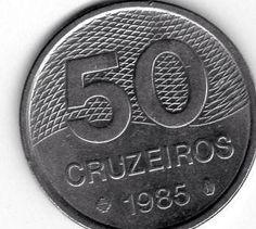 Moeda brasileira de 1985 de 50 cruzeiros