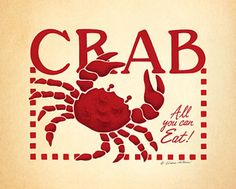Crab Stencil   Crab by Diane Arthurs art print