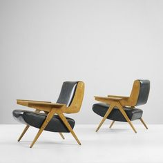 Gianfranco Frattini  lounge chairs model 831