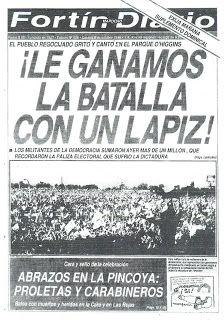 El viajero pagado: Portadas del Fortín Mapocho octubre 1988 Social Security, Kokoro, Cold War, History, Cocoa, Image, Truths, Military Dictatorship, Journaling