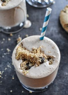 Chocolate Chip Cookie Milkshakes. | howsweeteats.com