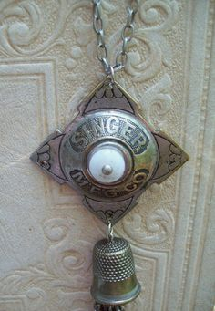 Upcycled Vintage Hardware necklace by RMKCollection on Etsy, $32.00.