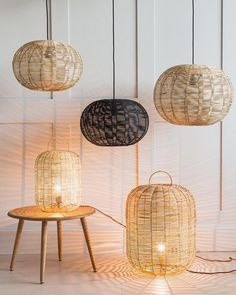 Let there be light! We love how our new wicker lamps give off such beautiful rays of light ✨✨✨