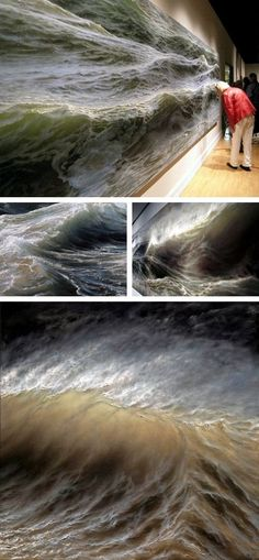 Ran Ortner - Swell, 2006 - oil on canvas—too real! brown, gold, beige,ecru
