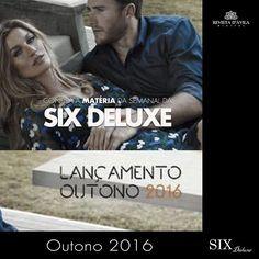 A SIX Deluxe está com lançamento de peças lindíssimas da nova coleção Outono 2016. A loja SIX sempre trazendo novidades para vestir bem com linhas masculinas e femininas.  Acompanhe na Revista DÁvila as matérias semanais da Six Deluxe e também de todos os outros parceiros. http://ift.tt/1UOAUiP (link na bio).