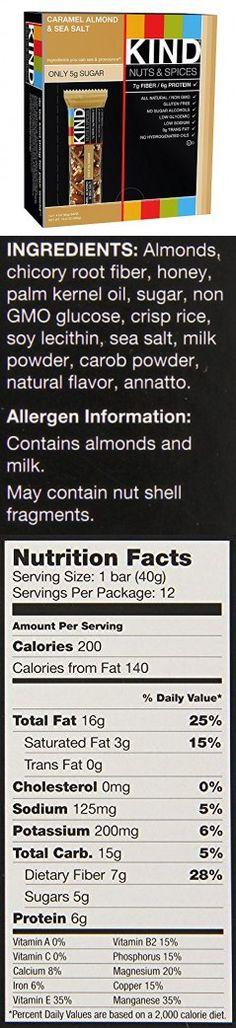 KIND Bars LqoqhKi, Caramel Almond & Sea Salt, 12 Count
