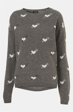 Topshop 'Hearts & Arrows' Sweater