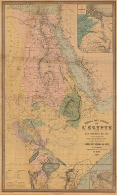 1879 Map of Egypt