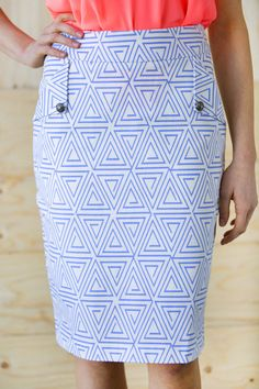 Give It A Triangle Skirt | White Plum
