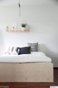 ava room,sänky,makuuhuone,vihersisustus Living Etc, Sleep Dress, Marimekko, Room Decor, House Design, Interior Design, Storage, Future, Plywood