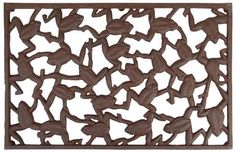 Esschert Design USA LH128 Frog Cast Iron Doormat by Esschert Design USA. $60.77. Heavy duty doormat to last for years. Unique cast iron doormat with a collection of linked frogs. Measures 23.2-inch by 14.7-inch. Nothing compares to the durability of a cast iron doormat and this rectangular piece has a whimsical frog design. Perfect for wiping mud or snow from your shoes and practical for high traffic doorways. The rustic finish cast iron and the linked frog design prooves to b...