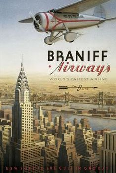 Braniff airways. My first airplane trip was on Braniff...Tampa to Austin, Texas....all by myself at age 15!