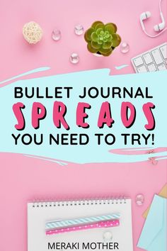 Bullet journal spread everyone NEEDS to try out to be more organized and productive! #bulletjournalspreads #bujo Bullet Journal Monthly Spread, Bullet Journal Layout, Bujo Weekly Spread, Bullet Journal Printables, Getting Organized, Spreads, Organization, How To Plan, Organisation