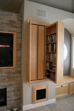 Wonderful Idea. Even though i love to show off my awesome DVD collection..it would look so much neater hidden away