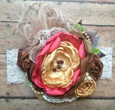 Harvest Bloom Over the Top bow by ChloeRoseCouture on Etsy