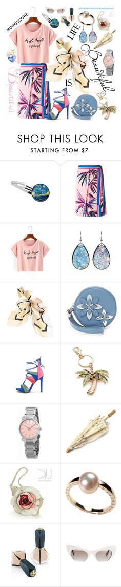 """""""Horoscope"""" by rita257 ❤ liked on Polyvore featuring Emilio Pucci, WithChic, White House Black Market, MICHAEL Michael Kors, New Directions, Calvin Klein, Géraldine Valluet, Oribe and Miu Miu"""
