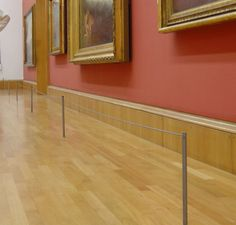 Floor Mounted Museum Barriers #museum #barriers #artdisplay #history @easelsbyamron www.artdisplay.com