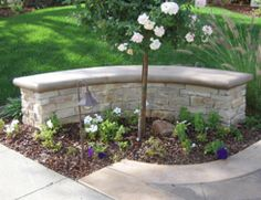 Incredible wall seating bench perfect stone seat wall or retaining wall Garden Retaining Wall, Stone Retaining Wall, Retaining Walls, Wall Bench, Wall Seating, Bench Seat, Bench Around Trees, Summit Homes, Stone Bench