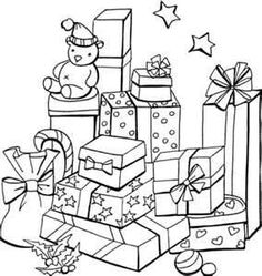 Image detail for -christmas present coloring sheet a big christmas present a whole lot ...