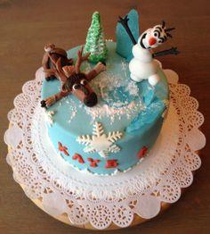 Frozen taart voor kleinzoon Kaye die 6 jaar is geworden