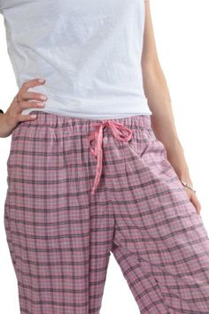 Women's Lounge Pants, 100% Cotton Flannel, Style#Fpj-L, 3 Colors, Large Size $5.99