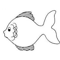 Simple Fish Drawing Clipartsco simple fish coloring pages BIG