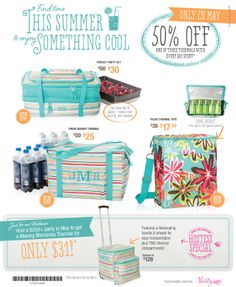 May Specials are awesome!  Great Hostess gifts.   Party on!!!