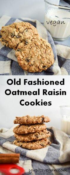 Chewy Vegan Oatmeal Raisin Cookies | yupitsvegan.com. Vegan oatmeal raisin cookies made with heart-healthy walnuts, hemp seeds, and free of refined sugar.