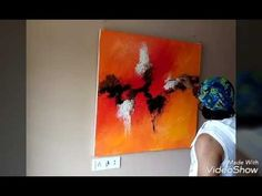 "Making of acrylic abstract painting "" fire within"" - YouTube"