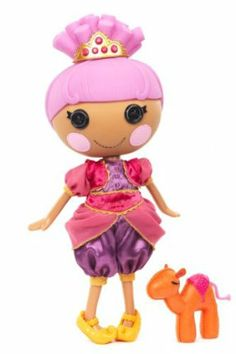 MGA Lalaloopsy Doll Sahara Mirage by MGA Entertainment. $36.00. Sewn from a Genie's Veil. She's a real charmer, who's scared of the dark, and always pops up when she's least expected. Shoes and clothes can be removed for fashion play. Pet Camel. Articulated head, arms, and legs. From the Manufacturer                The Lalaloopsy were once rag dolls who magically came to life, taking on the personalities of the fabrics that were used to make them. They live in a colorful...