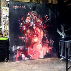 Epic #Borondo #mural, New Inn Yard, Shoreditch #streetart #graffiti #instagram