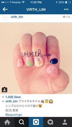 Japanese style spring nail art