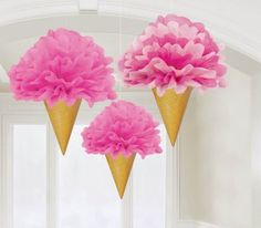 Amscan // Sweet Stuff Ice Cream Fluffy Decorations, 12"