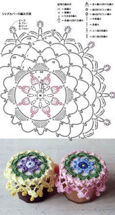 43 Ideas Crochet Patrones Faciles For 2019 Crochet Dollies, Crochet Buttons, Crochet Flowers, Crochet Stitches, Crochet Home, Free Crochet, Knit Crochet, Crochet Mandala Pattern, Crochet Patterns
