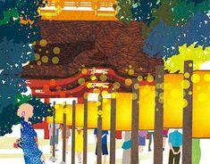 Cover illustration for Kamakura Guide map Kamakura, New Work, Art Museum, Adobe Illustrator, Behance, Map, Gallery, Cover, Creative