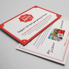 Gourmet French Food Box Welcome Cards