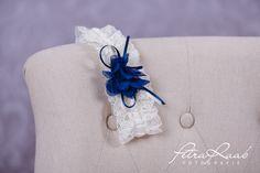 Strumpfbänder - Strumpfband Spitze Braut Chiffon blau St3 - ein Designerstück von Perle-Wismer bei DaWanda