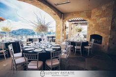 White black yellow Tuscany | Wedding Planning & Design by Luxury Estate Weddings & Events | luxuryestateweddings.com
