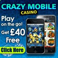 Crazy Mobile  Get 40 Free. Crazy Mobile offers players a special Welcome Bonus when they sign up with the casino. When making their first deposit of up to $//20, players will receive a 200% Match Bonus. This means theyll receive $//40 for free. With technology always advancing, its no surprise that mobile gaming is now in high demand. With Crazy Mobiles great software, players can now play exciting games, win real cash prizes and enjoy the online casino experience wherever they go.