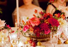Flowers by Amy Merrick: #centerpiece #red: http://www.katemurphyphotography.com/2012/08/amelia-evan/
