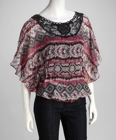 Take a look at this Passport Raspberry Crochet Top by Revive Your Wardrobe: Women's Apparel on #zulily today!