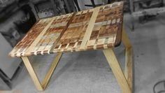 Wood table segment