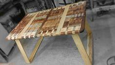 Wood table segment