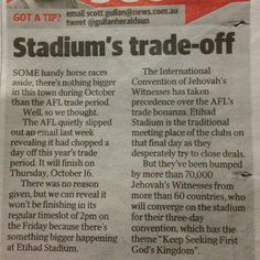For Melbourne's International Convention from Herald Sun Newspaper (Australia) @john__hayes