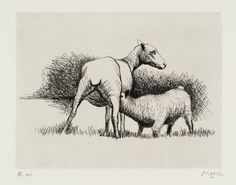 Henry Moore OM, CH 'Shorn Sheep with Lamb', 1974 © The Henry Moore Foundation…