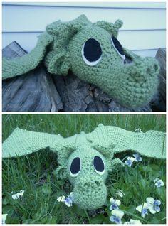 Amigurumi Crocheted Dragon Free Pattern #toy #plushie