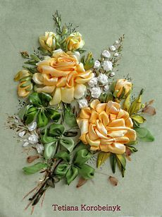 Wonderful Ribbon Embroidery Flowers by Hand Ideas. Enchanting Ribbon Embroidery Flowers by Hand Ideas. Ribbon Art, Diy Ribbon, Ribbon Crafts, Flower Crafts, Ribbon Embroidery Tutorial, Silk Ribbon Embroidery, Crewel Embroidery, Embroidery Digitizing, Types Of Embroidery
