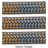 Desert Foliage 550 Test Paracord - 100 Foot Vermont's Barre Army Navy Store
