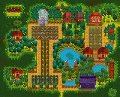 After 70 hours my farm is finally done! : StardewValley