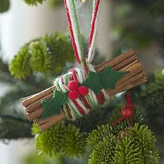simple cinnamon stick bundles - brings a wonderful aroma to the whole room!